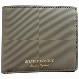 Burberry e-Canvas Bi-Fold Wallet - Green