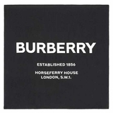 Burberry Horseferry Print Silk Square Scarf - Black