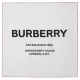 Burberry Horseferry Print Silk Square Scarf - White