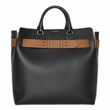 Burberry Large Leather Belt Bag - Black