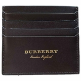 Burberry Leather Card Case Wallet - Dark Brown