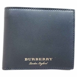 Burberry Lined Leather Bi-Fold Wallet - Black