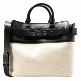 Burberry Medium Canvas and Leather Belt Bag - Black
