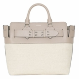 Burberry Medium Canvas and Leather Belt Bag - Grey Stone