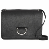 Burberry Medium Leather D-Ring Bag - Black