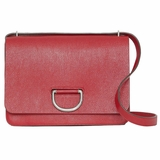 Burberry Medium Leather D-Ring Bag - Red
