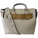 Burberry Medium Tri-Tone Leather Belt Bag - Beige