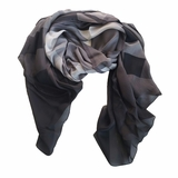 Burberry Oversized Silk Scarf Wrap - Stole Gray