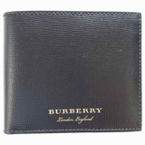 Burberry Pebbled Leather Bi-Fold Wallet - Dark Brown