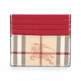 Burberry Sandon Trench Check Leather Card Case Red