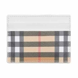 Burberry Sandon Vintage Check Card Case Wallet - White