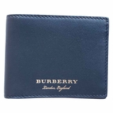 Burberry Small Lined Leather Bi-Fold Wallet- Black