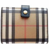 Burberry Small Vintage Check and Leather Folding Wallet - Beige/White