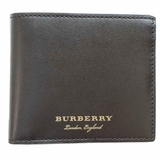 Burberry Smooth Leather Bi-Fold Wallet - Dark Brown