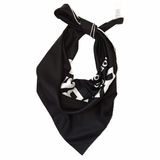 Burberry Square Silk Shawl - Black