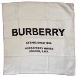 Burberry Square Silk Shawl - White