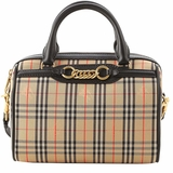 Burberry Striped Handbags - Biege