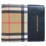 Burberry Tartan Check Bi-Fold Wallet - Beige/Black