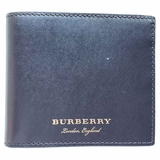 Burberry Textured Bi-Fold Wallet - Dark Brown