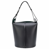 Burberry The Large Leather Bucket Bag - Black