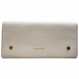 Burberry Two-Tone Pebbled Leather Continental Wallet - Beige