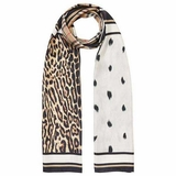 Burberry Vintage Check and Animal Print Silk Scarf - Beige