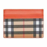 Burberry Vintage Check and Leather Card Case - Clementine