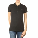 Burberry Women's Polo Shirt Classic Button - Black