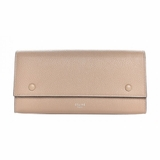 Celine Calfskin Large Multifunction Flap Wallet Dune - Beige