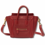 Celine Luggage Nano Bag - Burgundy