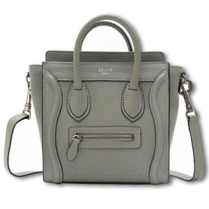 Celine Luggage Nano Bag Gray