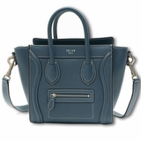 Celine Luggage Nano Bag - Navy