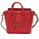 Celine Luggage Nano Bag Red