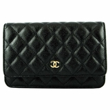 Chanel WOC Caviar Black with Gold