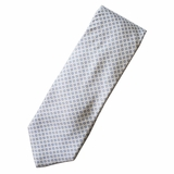 Corneliani 100% Silk Blue Tie - White