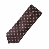 Corneliani 100% Silk Tie with Logo - Brown