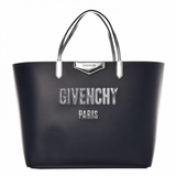 Givenchy Calfskin Large Bubble Antigona Shopper Tote - Night Blue Silver