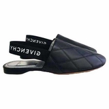 Givenchy Rivington Quilted Leather Black Mules Flat Shoes - Black