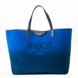 Givenchy Suede Ombre Metallic Reversible Large Antigona Shopper Tote - Blue