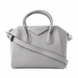 Givenchy Sugar Goatskin Small Antigona Pearl - Grey