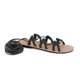 MAC&LOU Greek Leather Sandals 'Andromeda' - Black