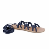 MAC&LOU Greek Leather Sandals 'Andromeda' - Blue