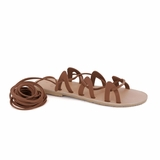 MAC&LOU Greek Leather Sandals 'Andromeda' - Brown