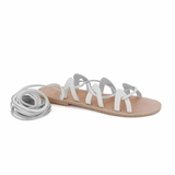 MAC&LOU Greek Leather Sandals 'Andromeda' - White