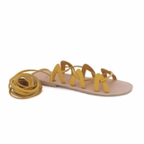 MAC&LOU Greek Leather Sandals 'Andromeda' - Yellow