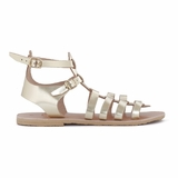 MAC&LOU Greek Leather Sandals 'Calliope' - Gold