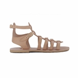 MAC&LOU Greek Leather Sandals 'Calliope' - Natural