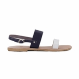 MAC&LOU Greek Leather Sandals 'Clio' - Blue/White