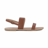 MAC&LOU Greek Leather Sandals 'Clio' - Brown