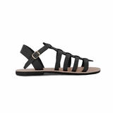 MAC&LOU Greek Leather Sandals 'Euterpe' - Black